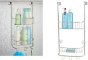 iDesign Forma Bathroom Over the Door Shower Caddy