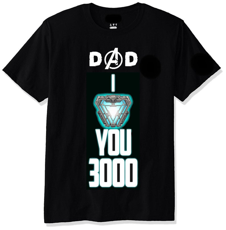 Download Fathers Day T-Shirt Dad I Love You 3000 Tony Stark Iron ...