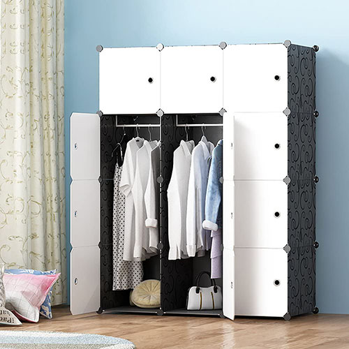 JOISCOPE-Portable Wardrobe for Hanging Clothes, Combination Armoire