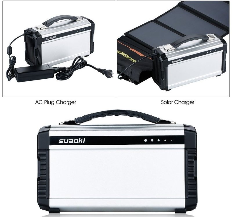 Suaoki Solar Generator Charging Options