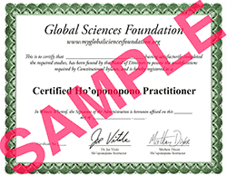 Hooponopono Certification Cerificate - Ho'oponopono Practitioner Certification Course Evaluation