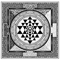 Manifesting Abundance Pendant - Sri Yantra Symbol