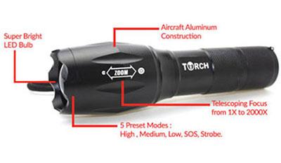 Tactical Flashlight - Labels