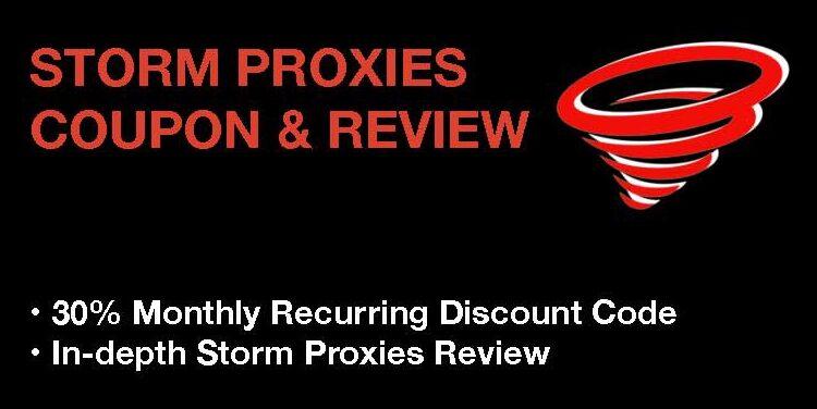 storm proxies coupon & review