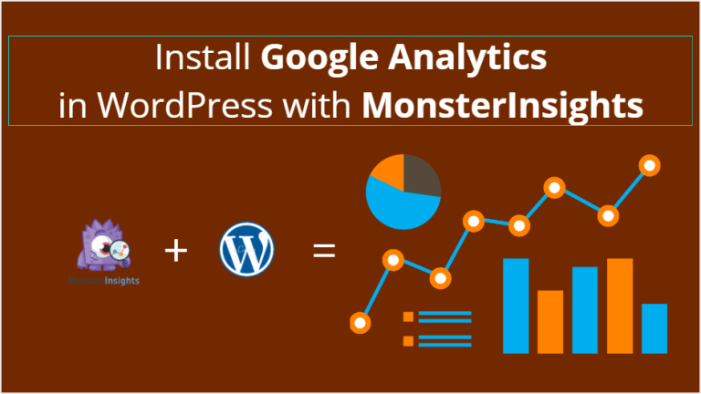 how to install google analytics with monsterinsights