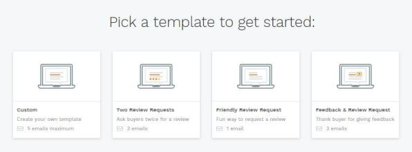 Jump send templates for automated email through jungle scout launch