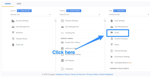 google analytics goal set up