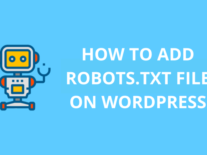 how to add robots.txt file on wordpress