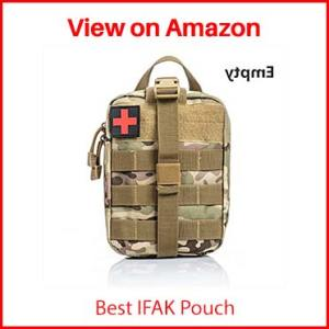 Jipemtra Tactical First Aid Bag MOLLE EMT IFAK Pouch