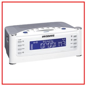 SANGEAN RCR 22 ATOMIC CLOCK WITH FM RDS AM AUX IN DIGITAL TUNING CLOCK RADIO