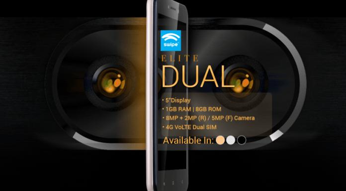 Swipe Elite Dual 1, Smartphone,