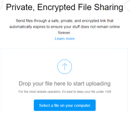 Share files Anonymously Image