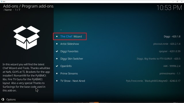 Step 23 Installing Diggz Xenon addon on Kodi