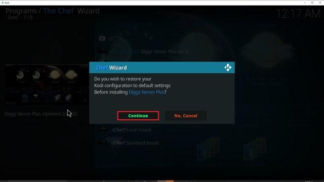 Step 35 Installing Diggz Xenon addon on Kodi