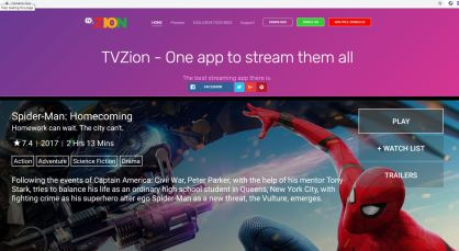 TVZion Website Image