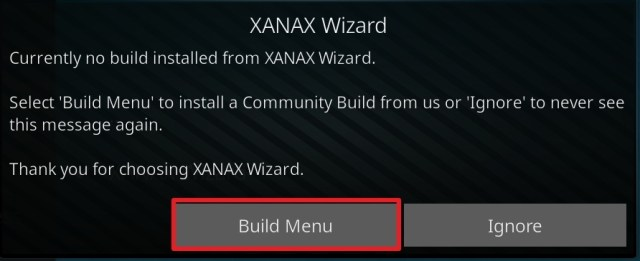 Install Xanax Kodi Build