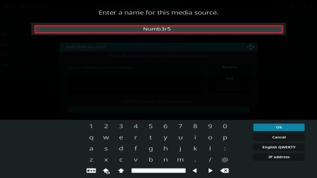 Step 12 Installing Numb3r5 on Kodi