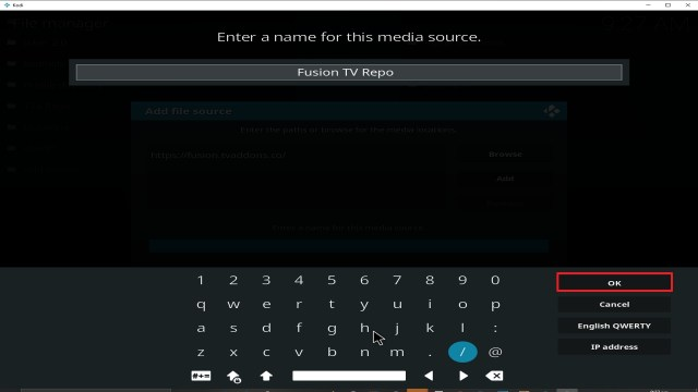 Step 13 Installing fusion addon on Kodi