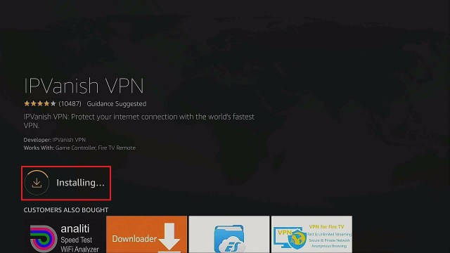 Step 6 Best One Click Play Apps Install IPVanish on Firestick