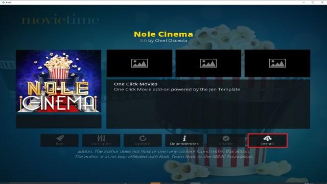 Step 23 Installing Nole Cinema addon on Kodi