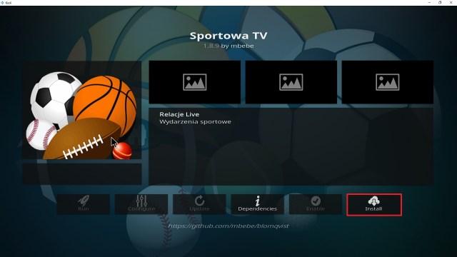 Step 23 Installing Sportowa TV addon on Kodi