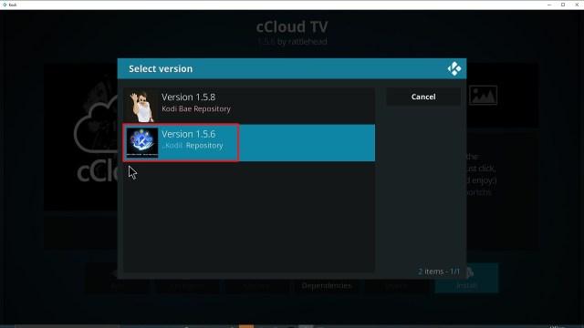 Step 24 Installing cCloud Kodi addon on Kodi