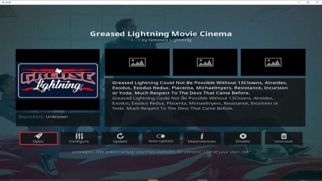 Step 26 Installing Grease Lightning addon on Kodi