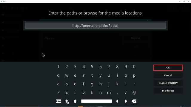 Step 10 Installing Enigma Kodi addon on Kodi