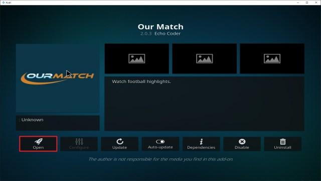 Step 27 Installing Our Match addon on Kodi