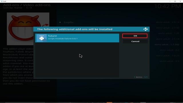 Step 27 Installing Video Devil Kodi addon on Kodi