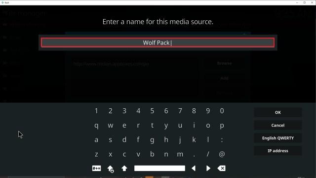 Step 12 Installing Wolf Pack addon on Kodi