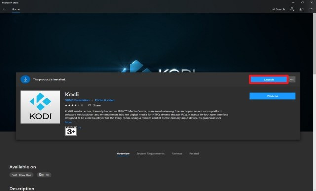Step 7 Install Kodi from the Microsoft Store