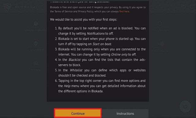 Step 22 Install Blokada via Filelinked