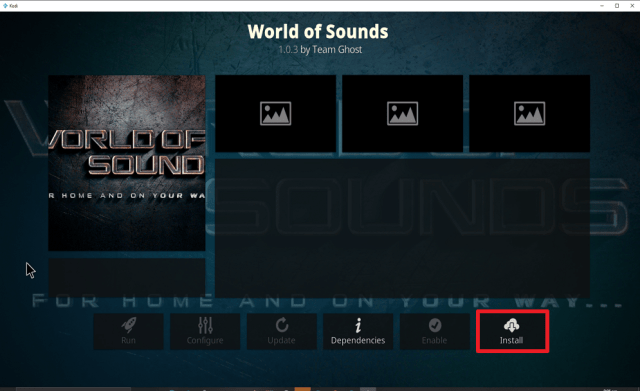 Step 23 Install World of Sounds on Kodi