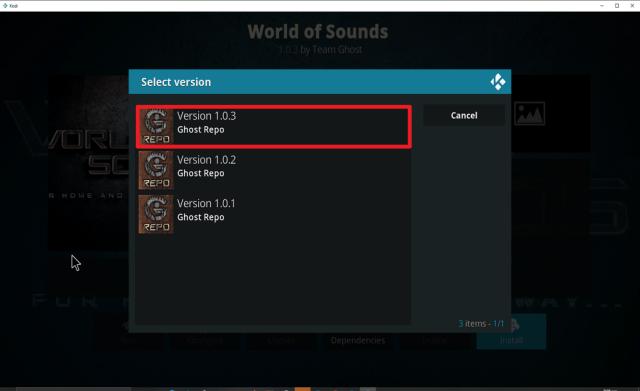 Step 24 Install World of Sounds on Kodi