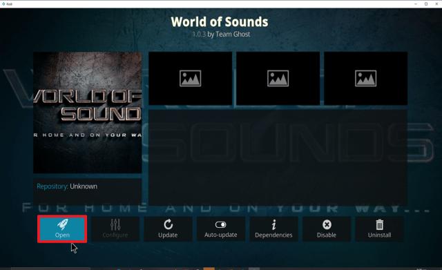 Step 28 Install World of Sounds on Kodi