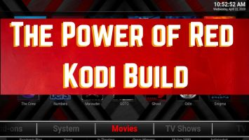 The power of red kodi build logo