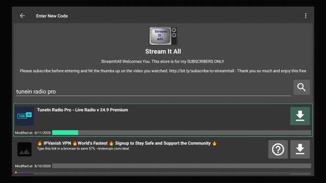 Step 19 Install TuneIn Radio Pro