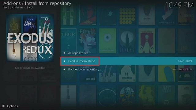 Step 19 Install Exodus Redux