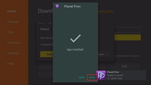Step 3 Install Planet Pron firestick