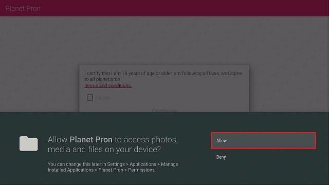 Step 4 Install Planet Pron firestick