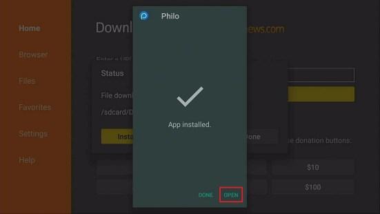 Philo: Fire TV stick Installation Guide Step 15