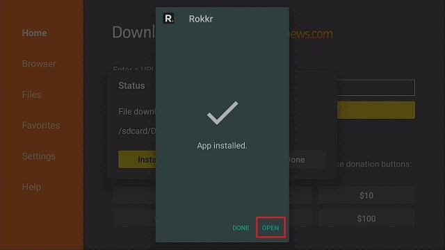 Step 14 Install Rokkr on Firestick