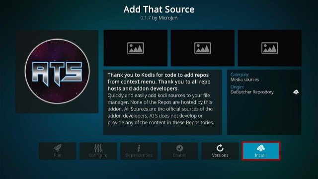 Install Add That Source Kodi Addon Step 19