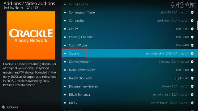 Install Crackle on Kodi Step 5