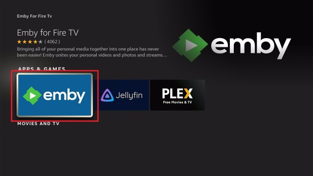 Install Emby Directly on Firestick Step 5