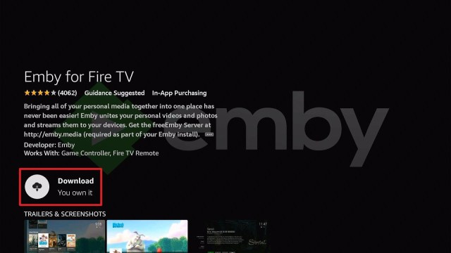 Install Emby Directly on Firestick Step 6