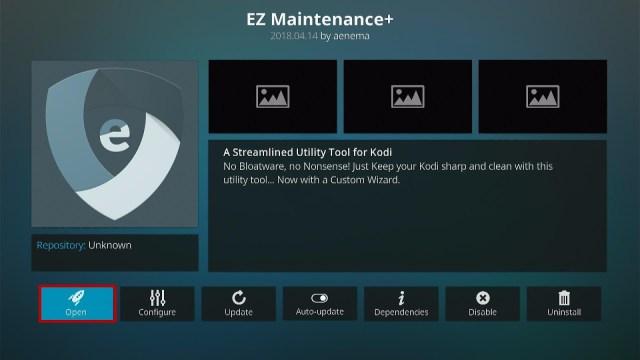 Install the EZ Maintenance+ Kodi Addon Step 5