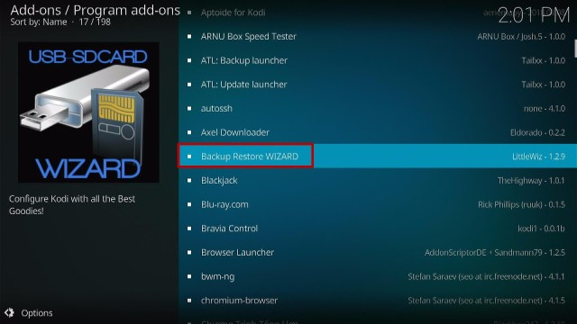 Install the USB-SDCard Wizard Step 1