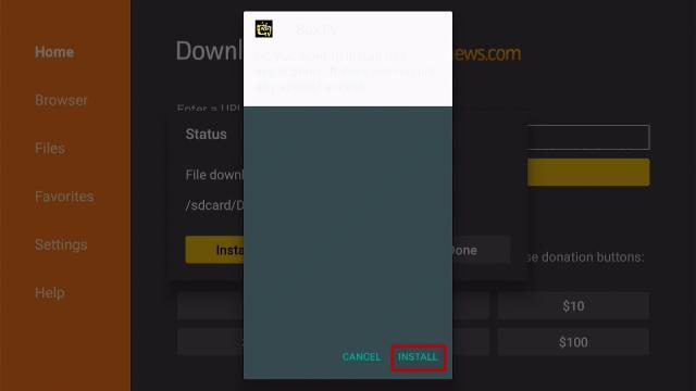 Step 16 Install Box TV App on Firestick